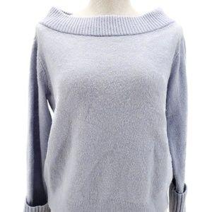 Club Monaco Fuzzy Sweater Lt Blue Sz S Oversized